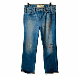 Manhattan Blues Faded Denim Blue Jeans 10